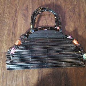 World market purse bag clutch bamboo